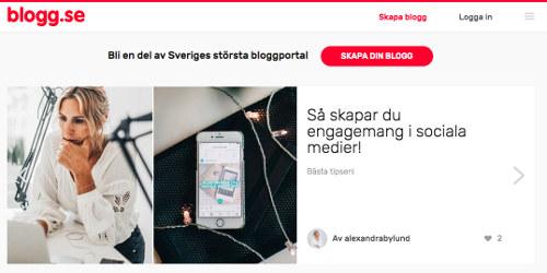 hur startar man en blogg